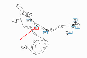 NEW MERCEDES-BENZ A168 RETURN GENERATOR TO ENGINE HOSE