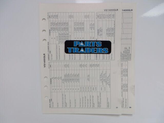 Suzuki Quick Reference Service Manual Data Sheet VS1400GLR