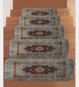 Soft Shaggy Carpet Stair Treads Non Slip Machine Washable Mats Rug   Washable Carpet Stair Treads   Removable Washable   Machine Washable   Rubber Backing   Slip Resistant   Self Adhesive