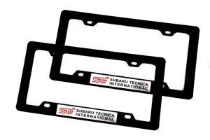 2PCS STI Subaru ABS License Plate Frame For Impreza WRX