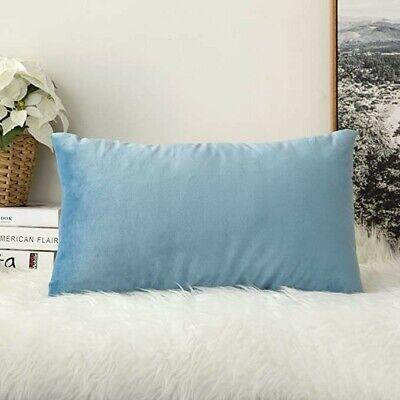 miulee set of 2 velvet light blue throw pillow cushion cover 20x12 ebay