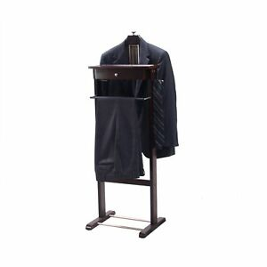 bedroom chair for clothes chevron dining chairs standing valet hanger suit organizer rack stand image is loading