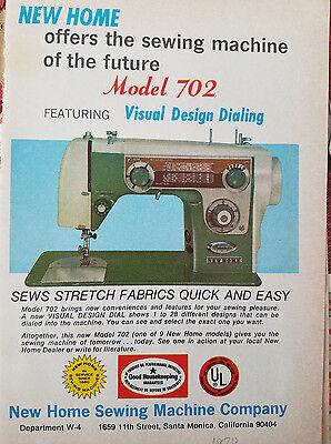 Vintage New Home Sewing Machine : vintage, sewing, machine, Vintage, Model, Sewing, Machine, Original