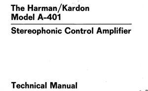 Harman Kardon a-401, a-402 Schematic Diagram Service