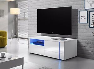 details sur meuble tv meuble de salon oxy 100 cm blanc noir gris avec led style moderne