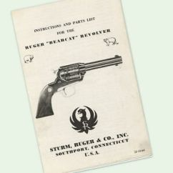 Ruger Pistol Parts Diagram 4 Pin Flat Trailer Wiring Bearcat Revolver Instructions Owners Manual Diagrams Image Is Loading