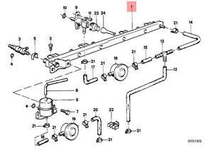 Genuine BMW E28 E30 Cabrio Coupe Fuel Injector Rail Pipe