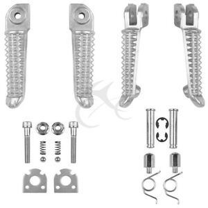 Front Rear Footrests Foot Pegs For Yamaha YZF R1 1992-2019