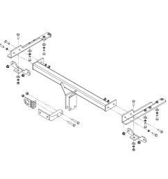 towbar for saab 9 5 saloon 2010 2012 flange tow bar [ 1600 x 1600 Pixel ]