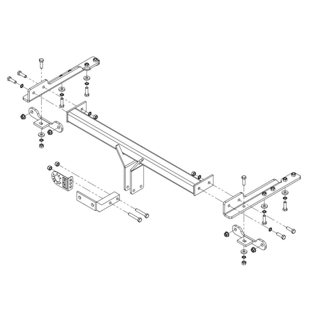 medium resolution of towbar for saab 9 5 saloon 2010 2012 flange tow bar