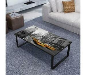details about new york city coffee end table low rectangular long quirky rustic chic glass top