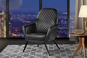 leather accent chairs for living room decor ideas black sofa chair faux arm with diamond image is loading