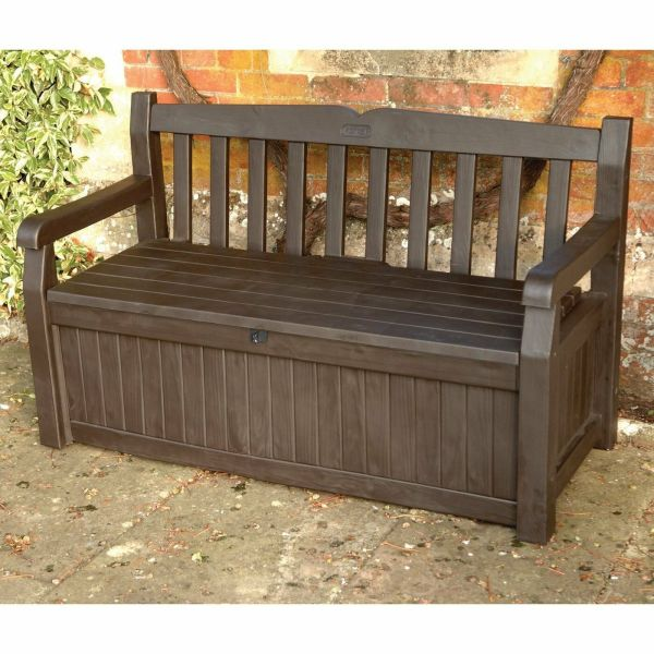 Outdoor Deck Bench with Storage