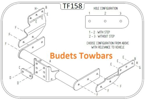 Ford Transit Towbar 2000-2014 Tow Trust Flange Towbars