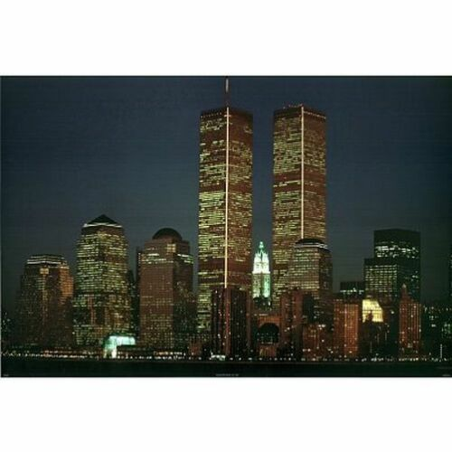 24x36 new york city skyline 36025 twin towers poster midnight dreams art posters art