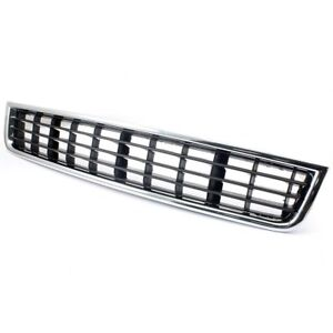 Chrome Front Bumper Center Lower Grille Grill For 2002