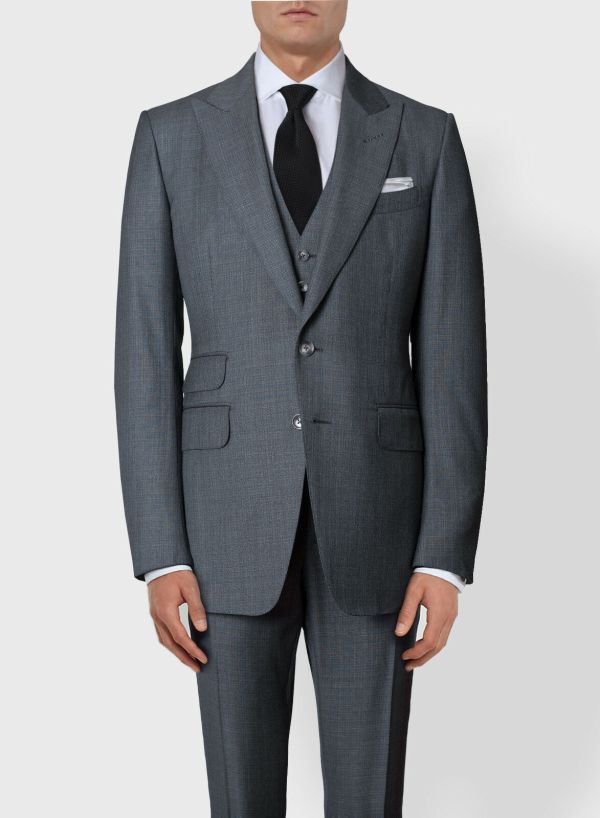 Tom Ford Dark Gray 3pcs Suit Lightweight Wool Slim-fit 38 48 5450