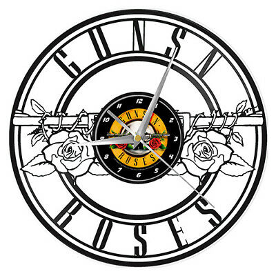 Guns N Roses Band Vinyl Record Wall Clock Man Cave Bar