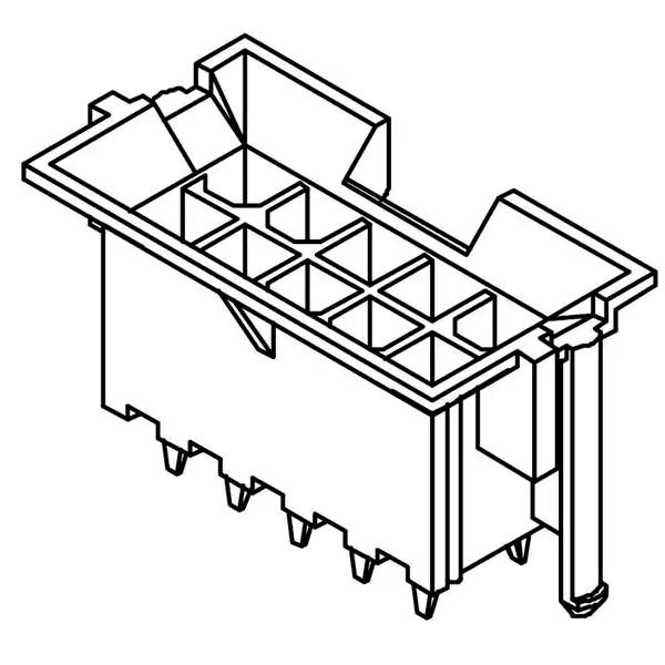MOLEX 43459-0028 Straight Boxed 24-Pin Gold 2-Row Header
