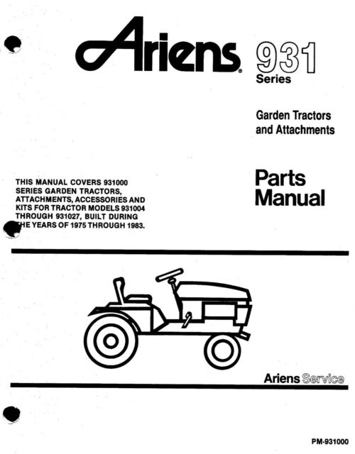 Ariens 934 Series 48