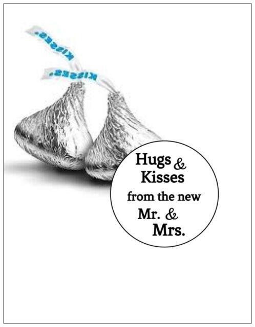 972 HUGS AND KISSES WEDDING HERSHEY KISS KISSES CANDY