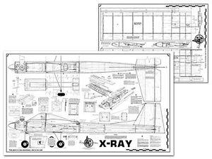AMCO X-Ray Full Size Balsa Model Airplane Kit Printed