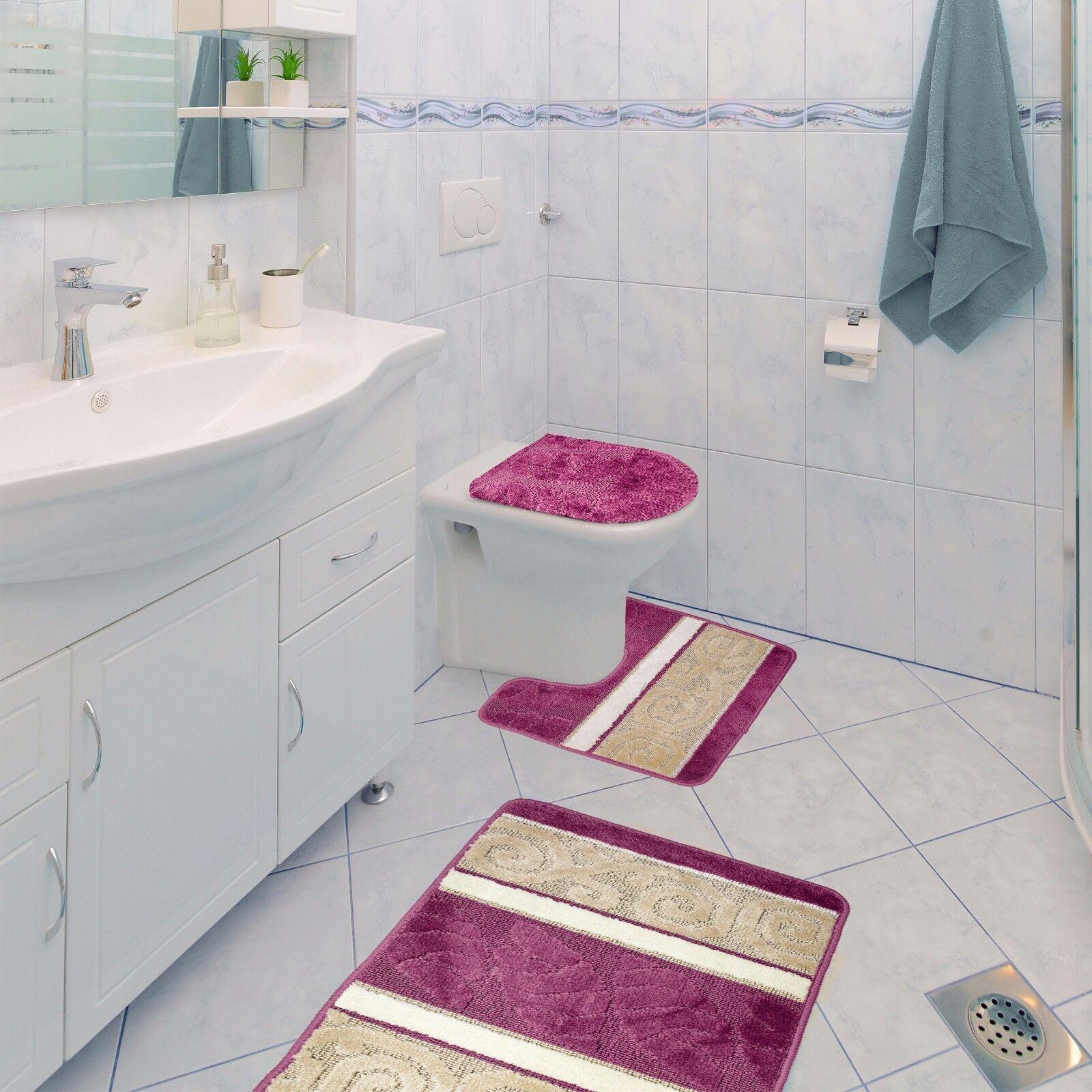 Scroll 3 Piece Bathroom Rug Set Bath Rug Contour Rug Lid Cover Sage Green  eBay