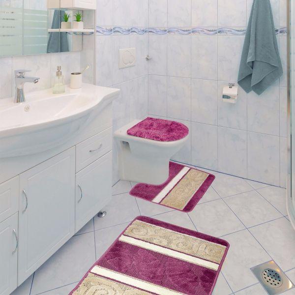 Scroll 3 Piece Bathroom Rug Set Bath Contour