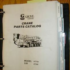 Crane Parts Diagram 2016 Ford Fiesta Wiring Grove Rt750 Manual Book Catalog Hydraulic Rough Terrain Image Is Loading