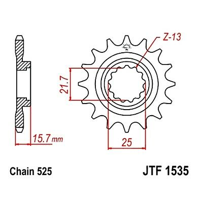 Front Sprocket 15 Tooth Pitch 525 For Kawasaki ZX 6R 600 G