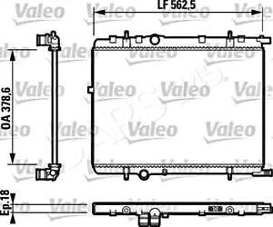 VALEO Engine Cooling Radiator Fits CITROEN Xsara PEUGEOT