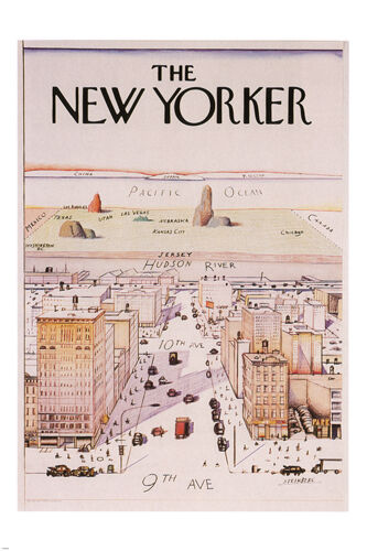 vy1 the new yorker cover poster famous illustration 1976 24x36 rare new art posters art