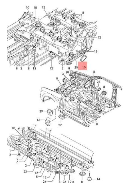 Genuine Bungs Rear AUDI VW SEAT SKODA 100 Avant Quattro