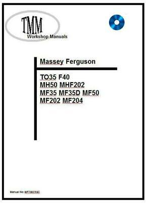 Massey Ferguson TMM 35 50 202 204 series Workshop Manual