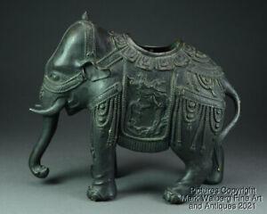Chinese Bronze Elephant Form Incense Burner / Censer, Fine Old Patina