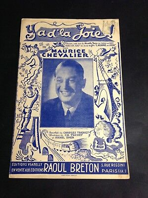Charles Trenet Y'a D'la Joie : charles, trenet, y'a, d'la, Partition, Maurice, Chevalier, Charles, Trenet