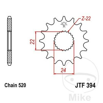 JT Front Sprocket 14T 520 Pitch CAN-AM DS 450