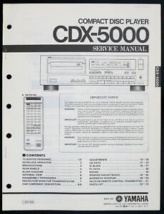 Yamaha CDX-5000 Original CD PLAYER SERVICE MANUAL/Diagram