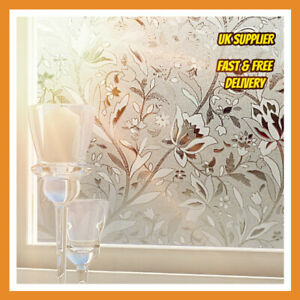 details about uk patio door window film 90cm wide privacy film tulip pattern for privacy