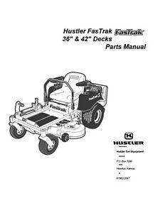 Hustler FasTrak Mower Super Duty 36-42 & Mini Z 36-42