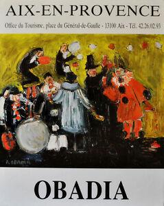 Exposition Peinture Aix En Provence : exposition, peinture, provence, OBADIA, Affiche, Originale, Vintage, Exposition, Peintures, Provence