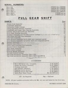 1966 MERCURY OUTBOARD MERC 200,200L,200-1,200L-1,200*2
