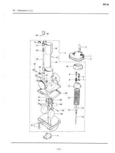 KAWASAKI Parts Manual MC1 MC1M MC1MA MC1-MA 1975