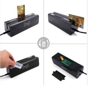 ZCS160 4 in 1 Magnetic Stripe Credit Card RFID PSAM EMV IC ...