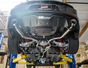 details about agency power ap catback exhaust system for 2015 2017 ford mustang ecoboost turbo