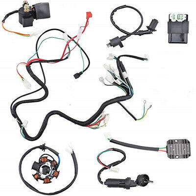 Wiring Harness Kit Electrics Wire Loom Assembly For GY6