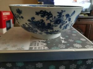 Antique 18th Century Chinese Blue And White Bowl