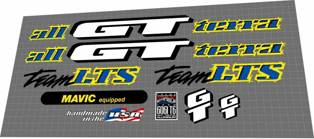 medium resolution of gt team lts 1995 decal set
