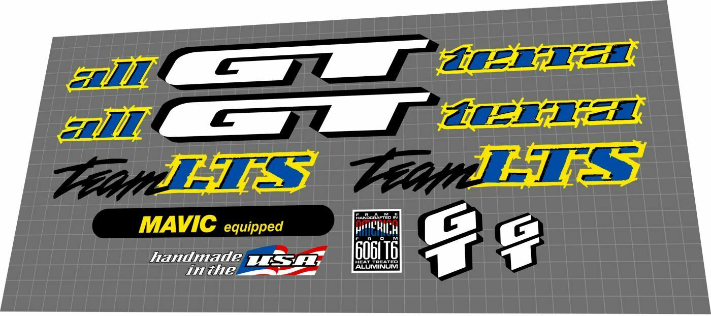 hight resolution of gt team lts 1995 decal set