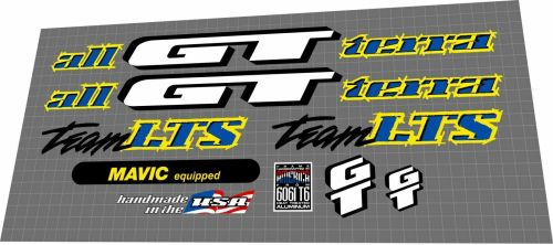 small resolution of gt team lts 1995 decal set